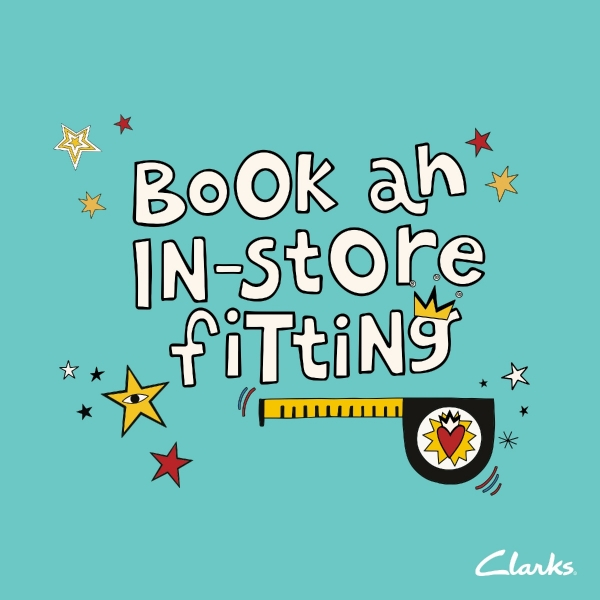 Book your in-store fitting at Clarks