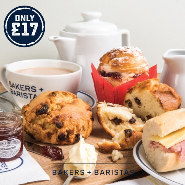 Afternoon Tea for two at Bakers + Baristas